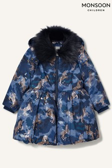 Monsoon Foil Unicorn Padded Coat
