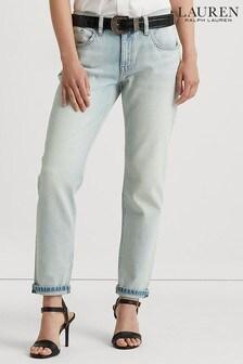 Lauren Ralph Lauren Blue Wash Relaxed Taper Jeans