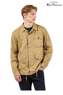 Ben Sherman Gold Sand Cotton Workwear Jacket
