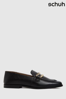 Schuh Leandra Leather Chain Loafers