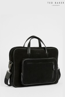 Ted Baker Adaam Suede Document Bag