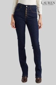 Lauren Ralph Lauren Blue Rinse Wash Donahue Boot Leg Jeans