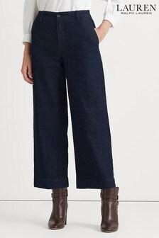 Lauren Ralph Lauren Blue Rinse Wash Tarlitta Cropped Leg Jeans