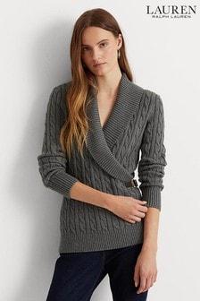 Lauren Ralph Lauren Traliyah Cable Knit Wrap Jumper