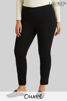 Lauren Ralph Lauren Curve Black Keslina Skinny Fit Trousers
