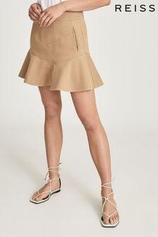 Reiss Luna Mini Skirt With Frill Hemline