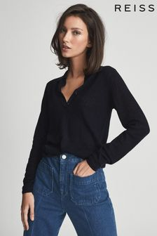 Reiss Kim Wool Cashmere Blend Polo Shirt