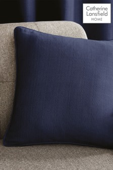 Catherine Lansfield Blue Textured Cushion