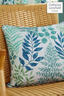 Catherine Lansfield Green Hartwood Leaf Cushion