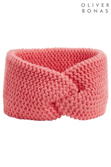 Oliver Bonas Pink Coral Pink Knitted Headband
