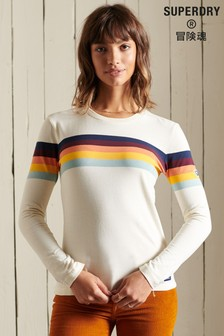 Superdry Cali Stripe Long Sleeved Top