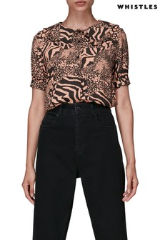 Whistles Maggie Patchwork Animal Top