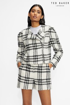 Ted Baker Iissla Cropped Exaggerated Shoulder Jacket