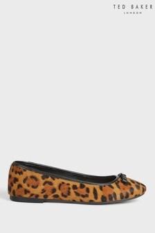 Ted Baker Norha Imitation Leopard Bow Ballerina Shoes
