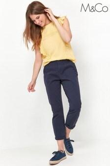 M&Co Petite Petite Chino Trousers