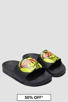 Versace Kids Black Sandals