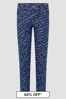 Versace Boys Blue Jeans