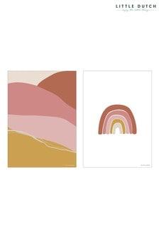 Little Dutch Pink Horizon A3 Poster