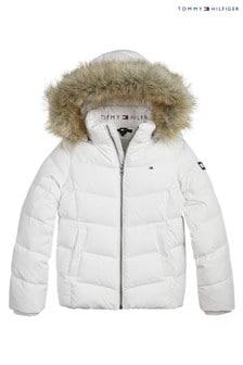 Tommy Hilfiger White Essential Down Jacket