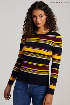 Tommy Hilfiger Yellow Essential Cable Knit Sweater