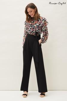 Phase Eight Black Sophie Floral Print Jumpsuit
