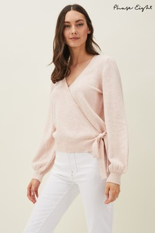 Phase Eight Pink Annie Marie Wrap Knit Jumper
