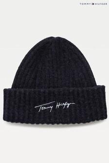 Tommy Hilfiger Blue Signature Fresh Beanie