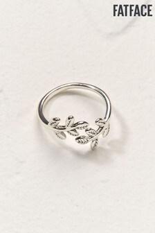 FatFace Silver Tone Leaf Ring