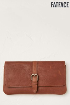 FatFace Brown Leather Matinee Purse