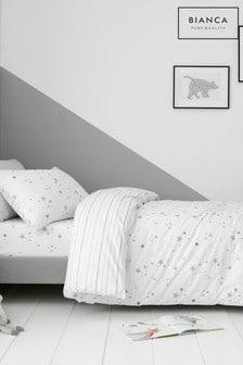 Bianca Grey Stars Duvet Cover and Pillowcase Set
