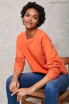 Mint Velvet Orange Side Zip Sweatshirt
