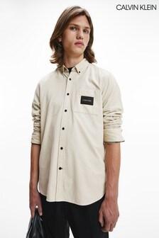 Calvin Klein Brown Regular Fit Baby Corduroy Shirt
