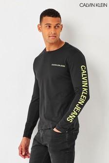 Calvin Klein Black Institutional Long Sleeve T-Shirt