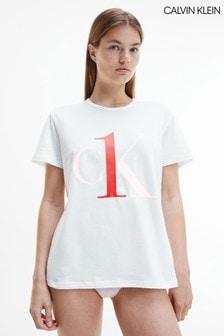 Calvin Klein White One Sleep Crew Neck T-Shirt