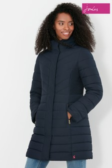 Joules Dartwell Padded Longline Coat With Hood