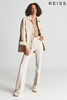 Reiss Lio Textured Wool Blend Shacket