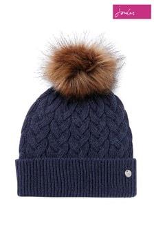 Joules Blue Elena Cable Hat