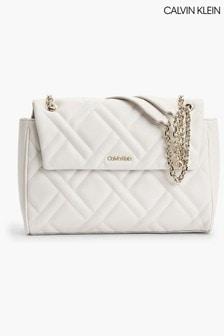 Calvin Klein Natural Quilt Cross-Body Bag