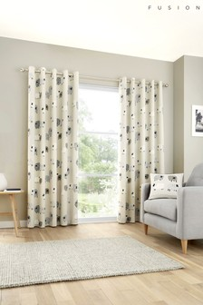 Fusion Natural Dotty Sheep Curtains
