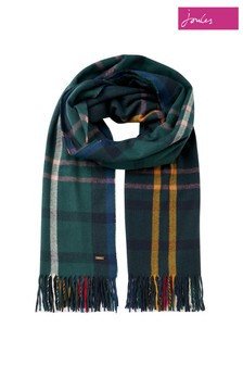Joules Blue Farah Check Scarf