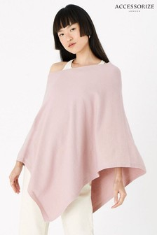 Accessorize Pale Pink Lightweight Knit Poncho