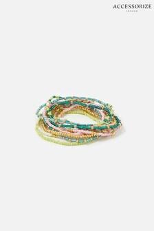 Accessorize Blue Feel Good Seedbead Stretch Bracelets