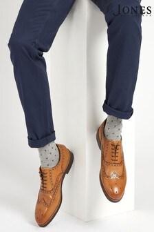 Jones Bootmaker Tan Gents Leather Lace Smart Shoes