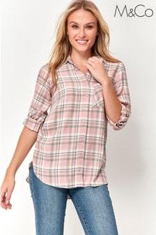 M&Co Pink Check Shirt