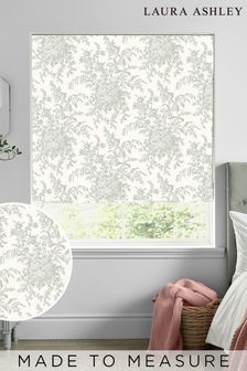 Laura Ashley Green Picardie Made To Measure Roman Blind