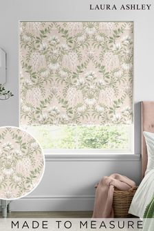 Laura Ashley Blush Parterre Made To Measure Roman Blind