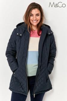 M&Co Blue Padded Short Jacket