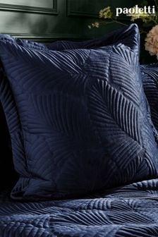 Riva Paoletti Blue Palmeria Cushion
