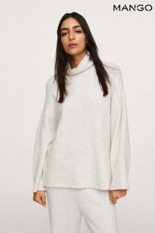 Mango Flecked Knit Sweater