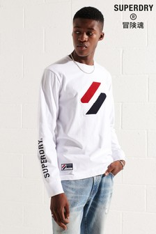 Superdry Code Logo Chenille Long Sleeved Top